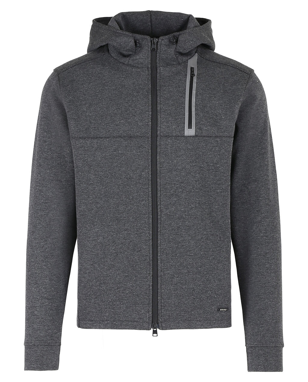 Bonded Jersey Fz Hoodie