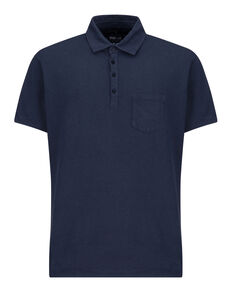 Cotton Linen Polo, MOOD INDIGO, hi-res
