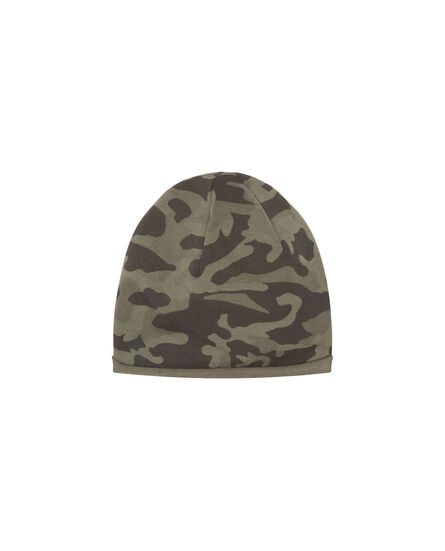 B'S Printed Fleece Beanie, CAMOU CITY GREY, hi-res