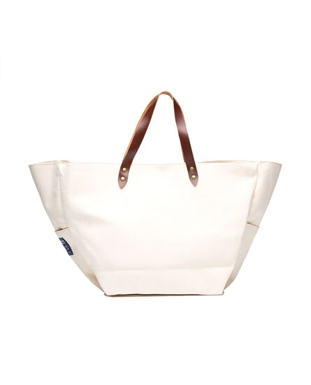 W'S Canvas Tote Bag, NATURAL, hi-res