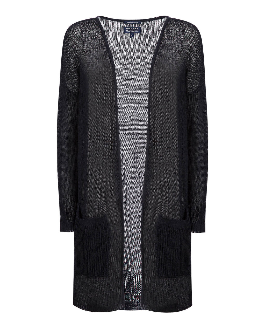 W'S Linen Cardigan, NIGHT SKY, hi-res