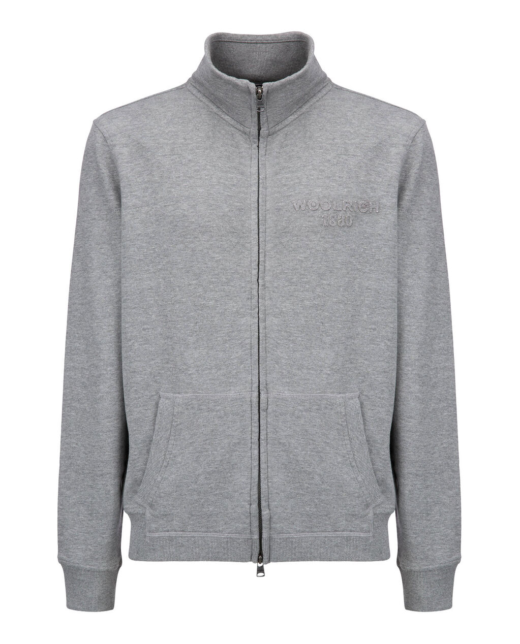 Logo Track Jkt, MEDIUM GREY MEL, hi-res