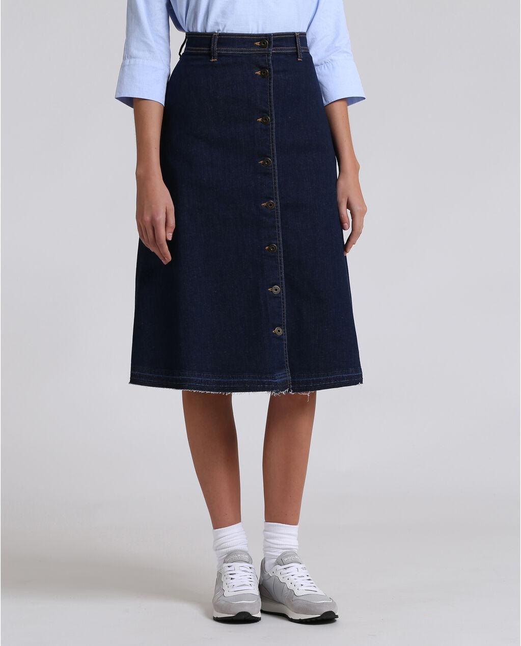 W'S Denim Long Skirt