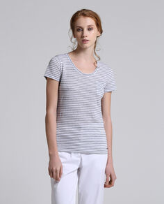 W'S Striped Pocket Tee