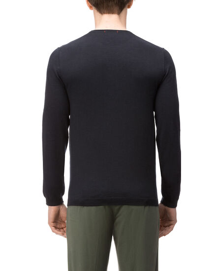 Dry Slub Crew Neck Sweater, DARK NAVY, hi-res