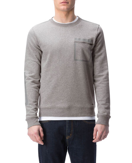 High Tech Fleece Crew Neck, MEDIUM GREY MEL, hi-res