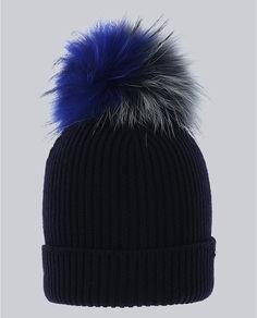 W'S Tricolor Pon Pon Hat