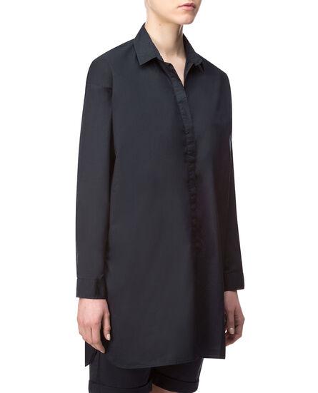 W'S Popeline Shirt, NIGHT SKY, hi-res