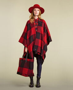 Red Buffalo Reversible Cape Look