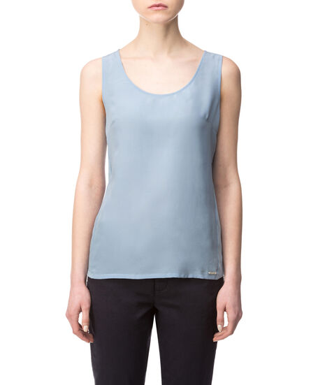 W'S Silk Jersey Tank, OXFORD BLUE, hi-res