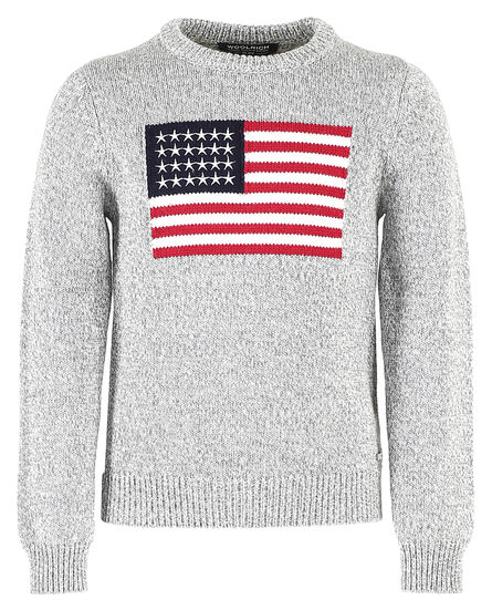 B'S Flag Jacquard Sweater