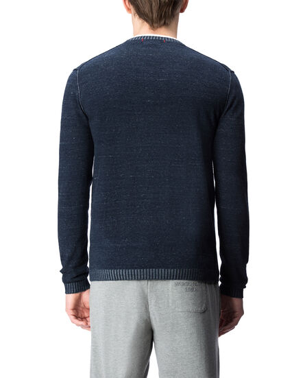 Revers Indigo Look Crew Neck, INDIGO, hi-res