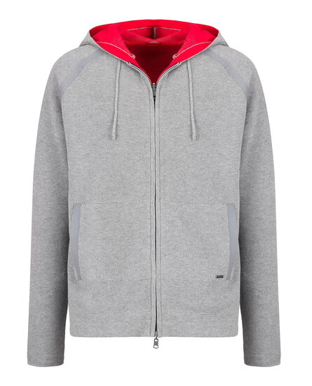 Reversible Fz Hoodie, MEDIUM GREY MEL, hi-res
