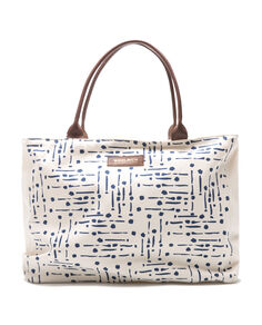 W'S Natural Canvas Small Tote, MICRO WHITE SAL, hi-res