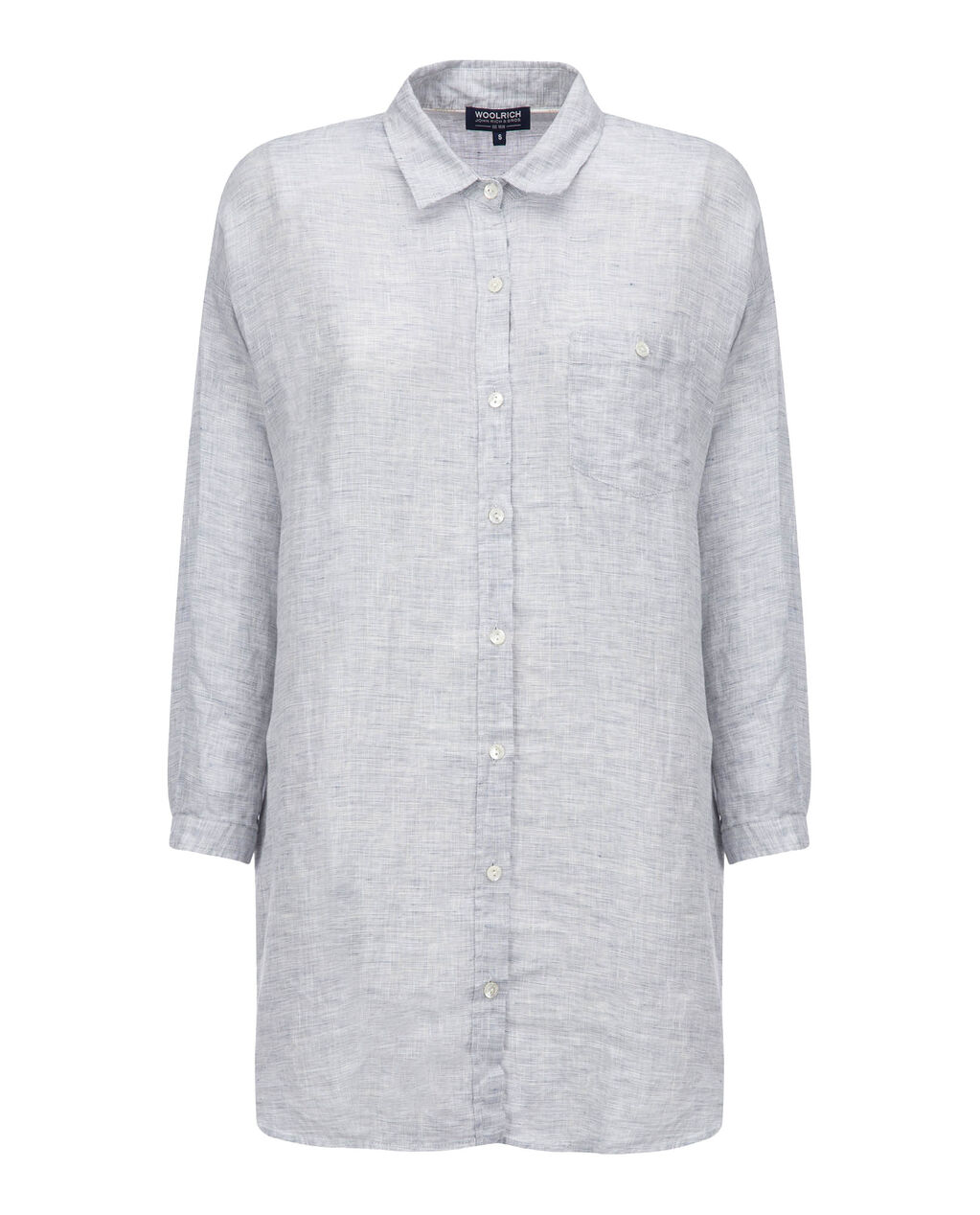W'S Linen Ls Shirt, FADED BLUE, hi-res