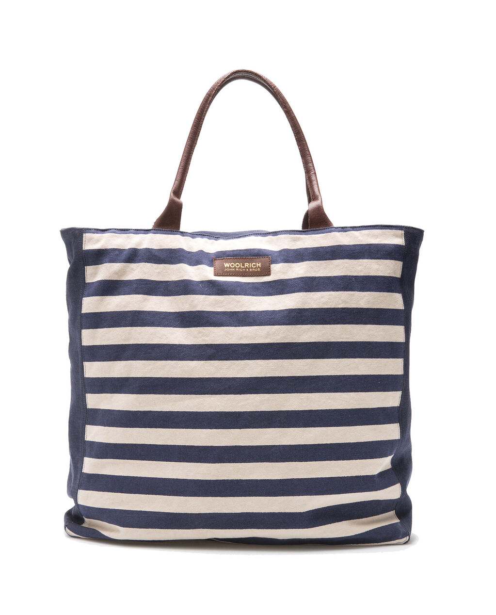 W'S Natural Canvas Tote, STRIPE BLUE, hi-res