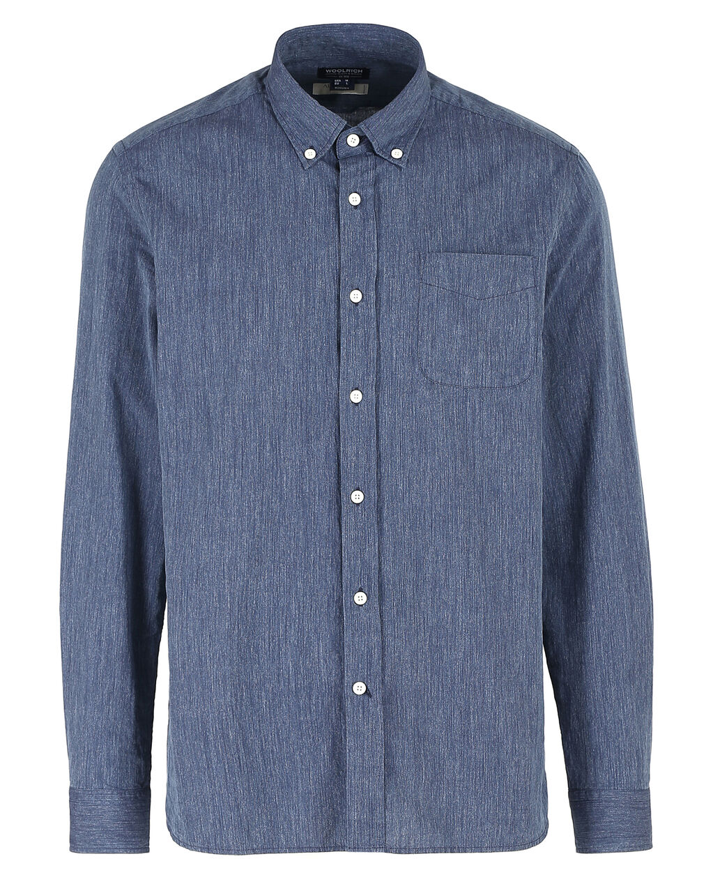 Button Down Denim Shirt, INDIGO, hi-res