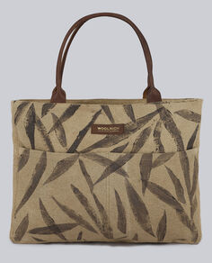 W'S Natural Canvas Small Tote