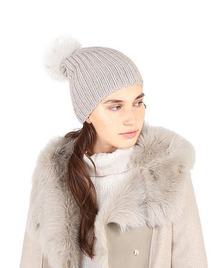 W'S Cashmere Pon Pon Hat