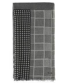 W'S Geometric Wool Scarf, 1533, hi-res