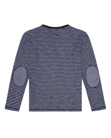 B'S Striped Long Sleeve Tee, CLASSIC BLUE, hi-res