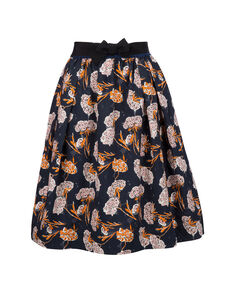 W'S Popeline Skirt, NIGHT SKY FLOWE, hi-res