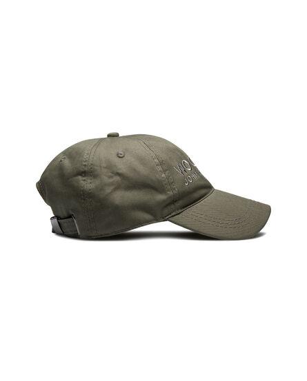 Cotton Logo Baseball Cap, FISHING GREEN, hi-res