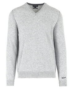 Contrast V Neck, LIGHT GREY MELA, hi-res