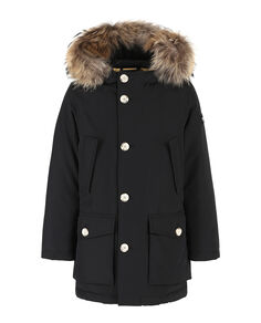 B'S Parka Detachable Fur, BLACK, hi-res
