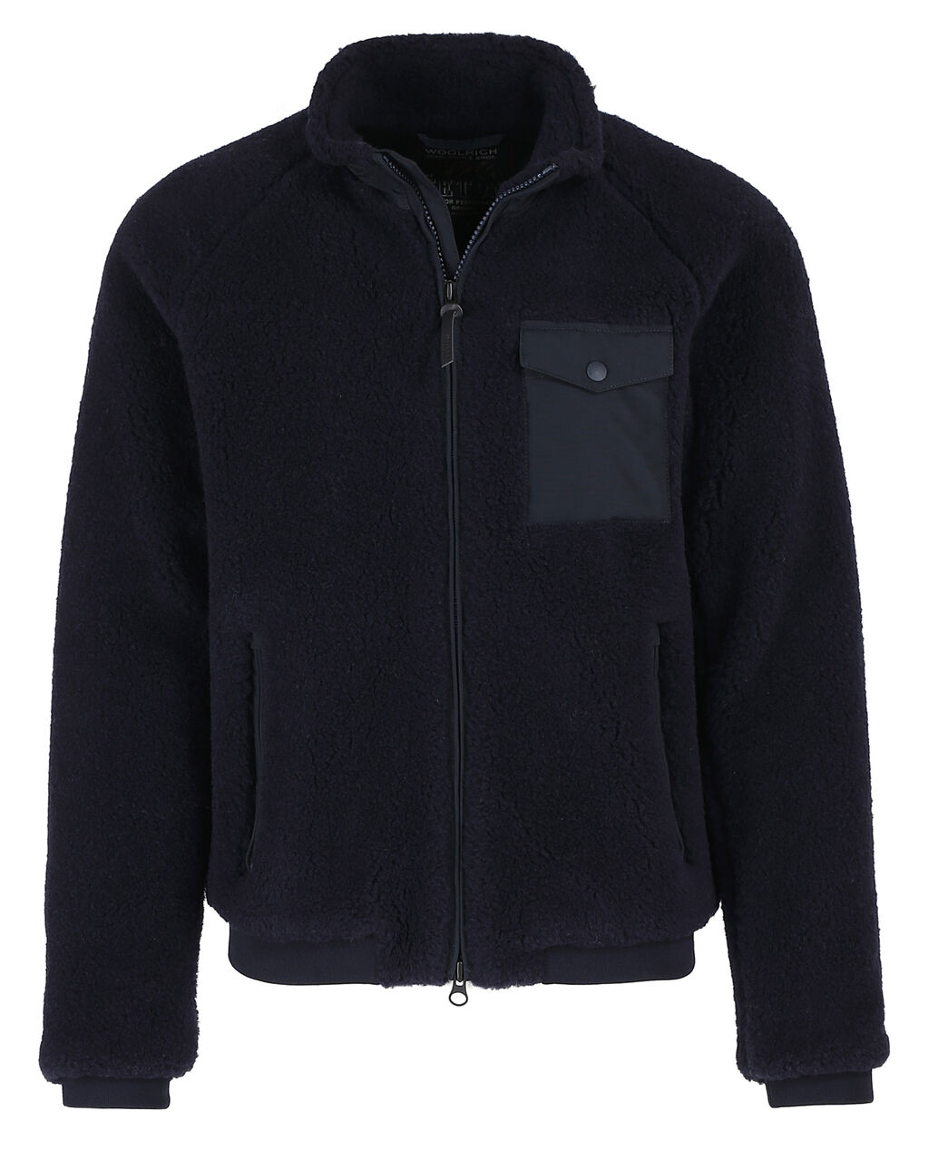 Merino Wool Bomber, MELTON BLUE, hi-res