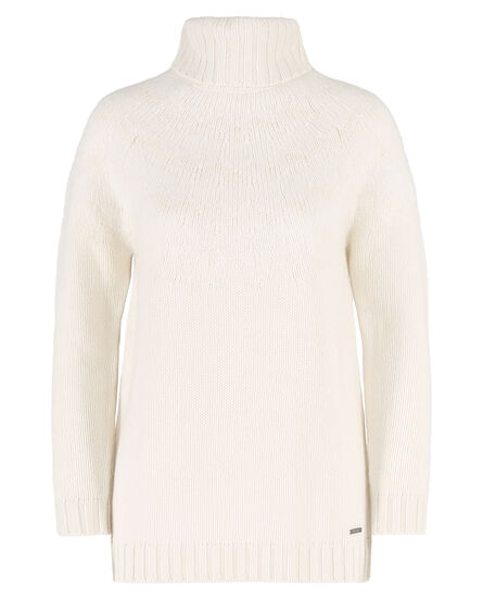 W'S Chunky Patchwork High Neck