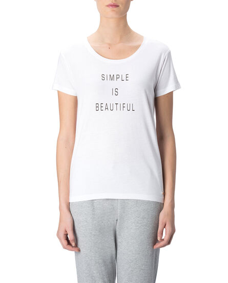 W'S Cotton Modal Tee, COCONUT WHITE, hi-res