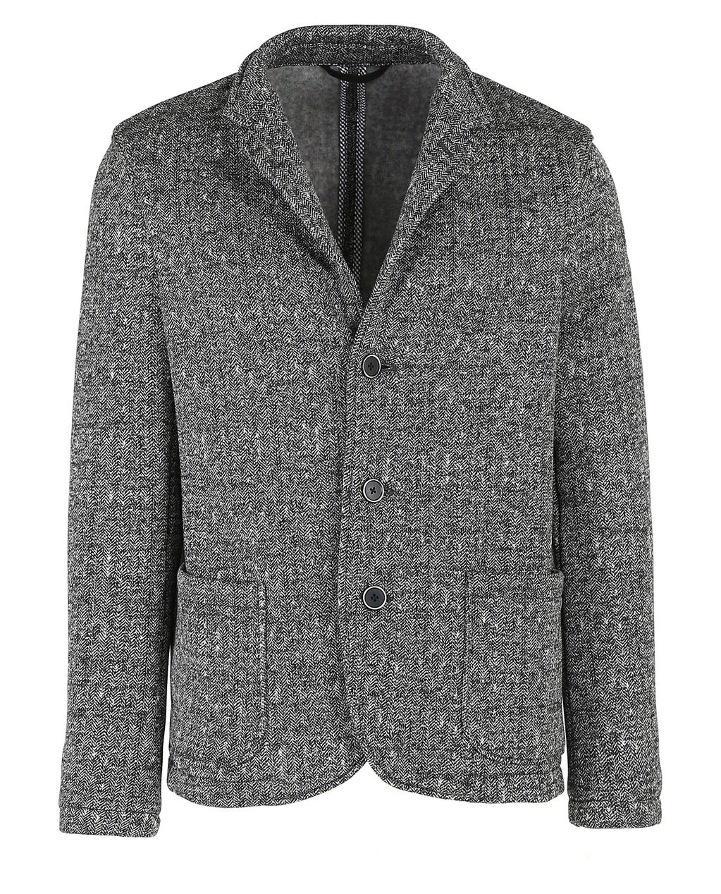 Printed Pile Blazer, MEDIUM GREY MEL, hi-res