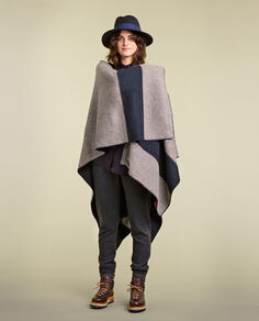 Elk Brown Reversible Cape Look