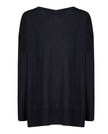 W'S Silk Cashm V Neck Sweater, NIGHT SKY, hi-res