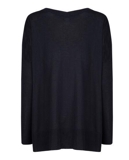 W'S Silk Cashm V Neck Sweater, NIGHT SKY, hi-res