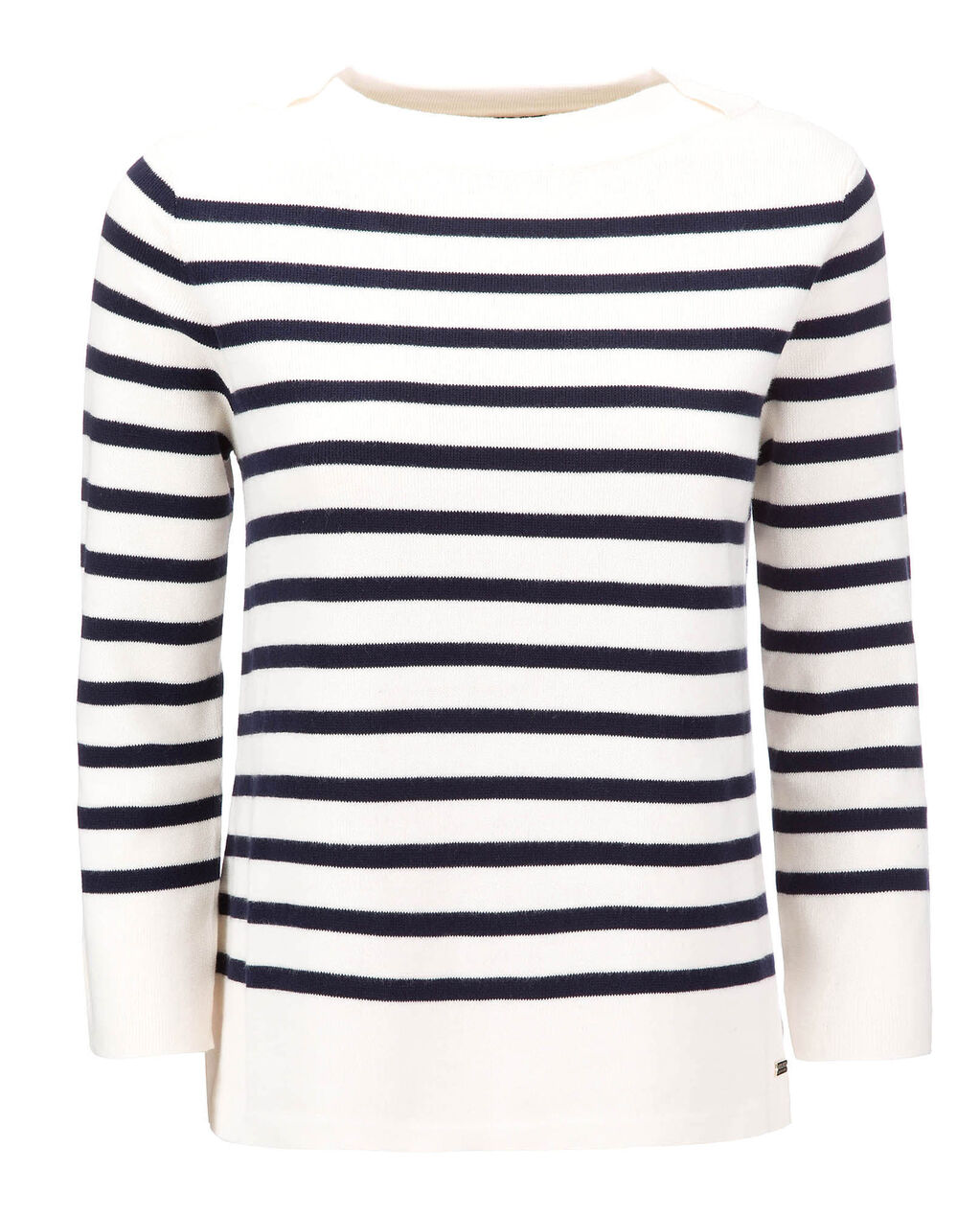 W'S  Milano Stitch Crew Neck, SHELL STRIPE, hi-res