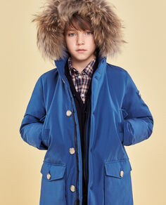 Boy's Blue Parka Look