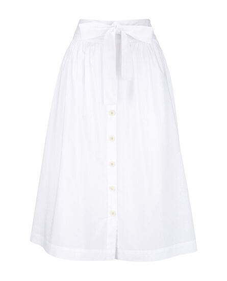 W'S Popeline  Button Skirt, WHITE SALT, hi-res