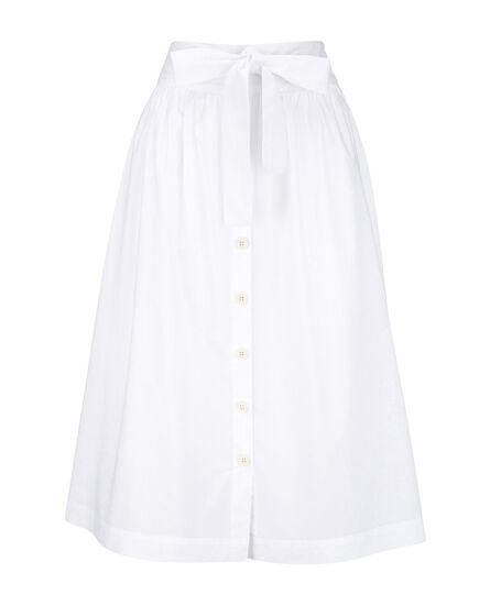 W'S Popeline  Button Skirt, WHITE SALT, hi-res