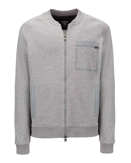 High Tech Fleece Track Jkt, MEDIUM GREY MEL, hi-res