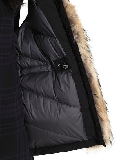 W'S Military Parka Vest, BLACK, hi-res