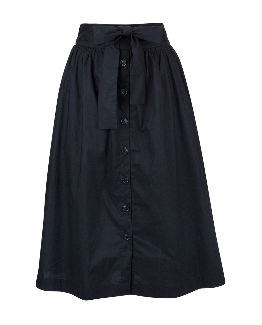 W'S Popeline  Button Skirt, NIGHT SKY, hi-res