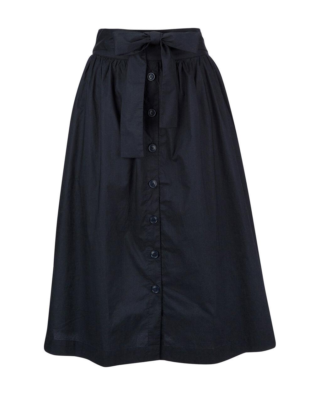 W'S Popeline  Button Skirt, NIGHT SKY, hi-res