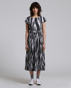 W'S Popeline Belted Dress