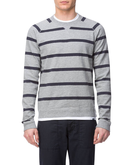 Striped Crew Neck, GREY MELANGE ST, hi-res