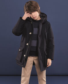 Boy's Arctic Parka no fur Camou Look