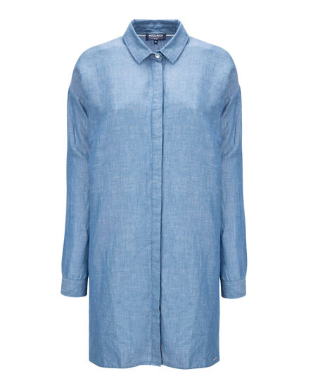 W'S Light Oxford Over Shirt, OXFORD BLUE, hi-res