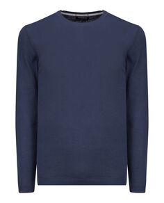 Soft Cotton Crew Neck, MOOD INDIGO, hi-res