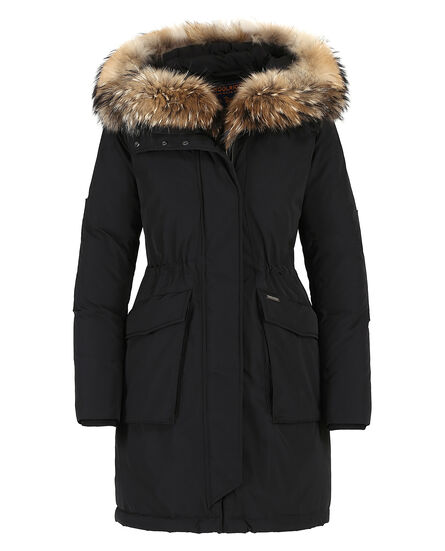 W'S Military Parka, BLACK, hi-res